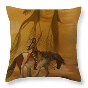 Where The Sun Touches The Sky Throw Pillow