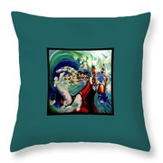 Where The Turf Meets The Surf Throw Pillow