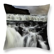 Where The Water Falls Throw Pillow