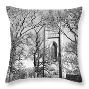 Where Yeats Lies In Bw Throw Pillow