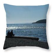 Whidbey Island Beach Throw Pillow