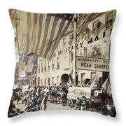 Whig Party Parade, 1840 Throw Pillow