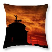 While Rome Burns Throw Pillow