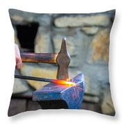 While The Iron Is Hot Throw Pillow