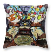 While Visions Of Sugarplums... Throw Pillow