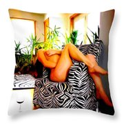 While You Are Away   Number Two Throw Pillow