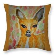 Whimsical Autumn Doe Throw Pillow