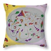 Whimsical Circle Throw Pillow
