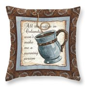 Whimsical Coffee 1 Throw Pillow