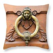 Whimsical Door Knocker Throw Pillow