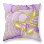 Whimsical In Purple Throw Pillow