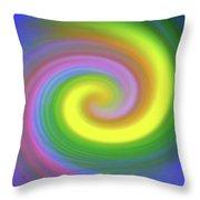 Whimsical Inward Twirls #111 Throw Pillow