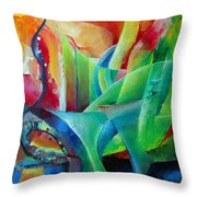 Whimsical Mood-landscape And Fields Throw Pillow