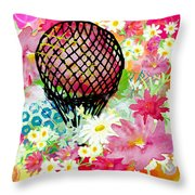 Whimsical Musing High In The Air Throw Pillow