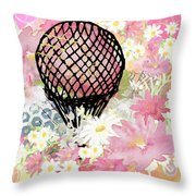 Whimsical Musing High In The Air Pink Throw Pillow