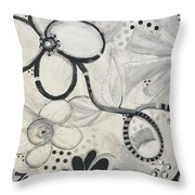 Whimsy Flower Throw Pillow