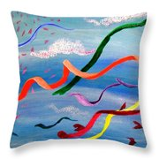 Whimsy Flying East Throw Pillow
