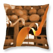 Whimsy In Orange Throw Pillow
