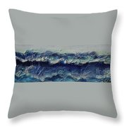 Whipped Cream Waves Throw Pillow