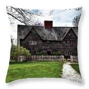 The John Whipple House In Ipswich Throw Pillow