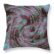 Whirl Wind Of Butterflies And Birds Throw Pillow