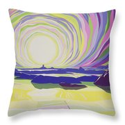 Whirling Sunrise - La Rocque Throw Pillow