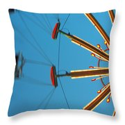 Whirling Twilight Throw Pillow