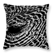Whirlpool Abstract - Bw Throw Pillow