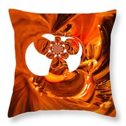Whirls Abstract Throw Pillow