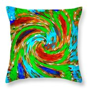 Whirlwind - Abstract Art Throw Pillow