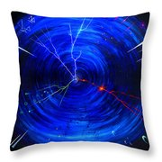 Whirlwind Of History. When Time Machine Is In Action Throw Pillow