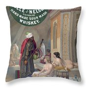 Whiskey Ad Throw Pillow