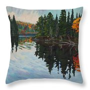 Whiskey Jack Bay Throw Pillow by Phil Chadwick