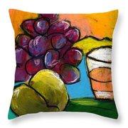 Whiskey  Pear  Grapes Throw Pillow