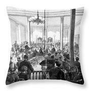 Whiskey Ring Trial, 1876 Throw Pillow