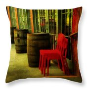 Whiskey Row Throw Pillow