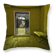 Whiskeytown Jail Throw Pillow