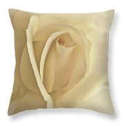 Whisper Of A Soft Yellow Rose Flower Throw Pillow