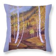 Whisper Of Leaves Throw Pillow