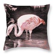 Whisper Pink Flamingo Throw Pillow