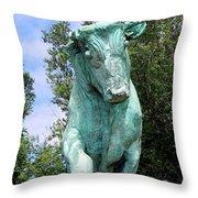 Whisper The Bull Throw Pillow
