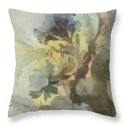 Whispering Flowers 2 Throw Pillow