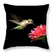 Whispering Hummingbird Throw Pillow