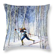 Whispering Tracks Throw Pillow by Hanne Lore Koehler