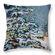 Whispering Throw Pillow by Vickie Warner