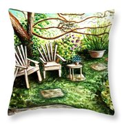 Whispering Winds Throw Pillow