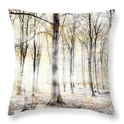 Whispering Woodland In Autumn Fall Throw Pillow