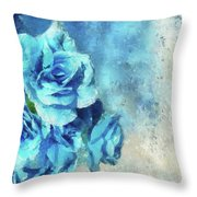 Whispers Of Blue Throw Pillow