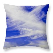Whispy Clouds Throw Pillow