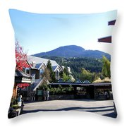 Whistler Mountain Throw Pillow